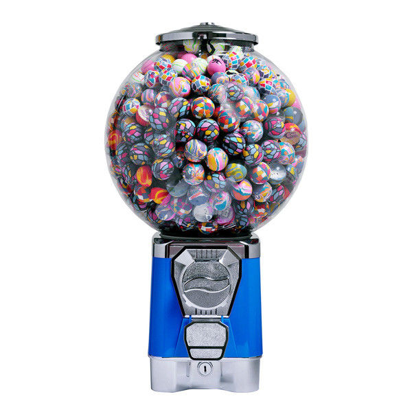 Blue color PC globe 1''~1.4'' coin operated sweet machine gumball machine with stand