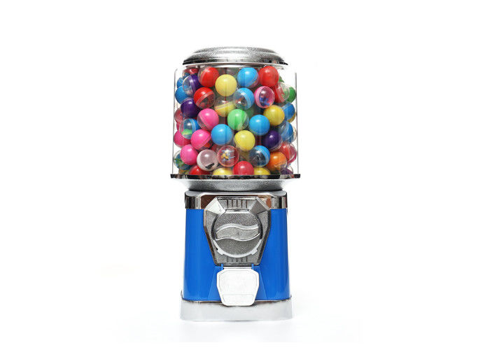 plastic round capsule candy gumball vending machine blue 45CM  6 coins 1.4 inch